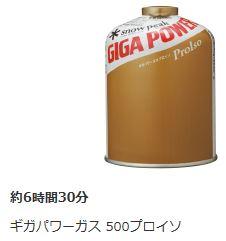 ギガパワー500プロイソ